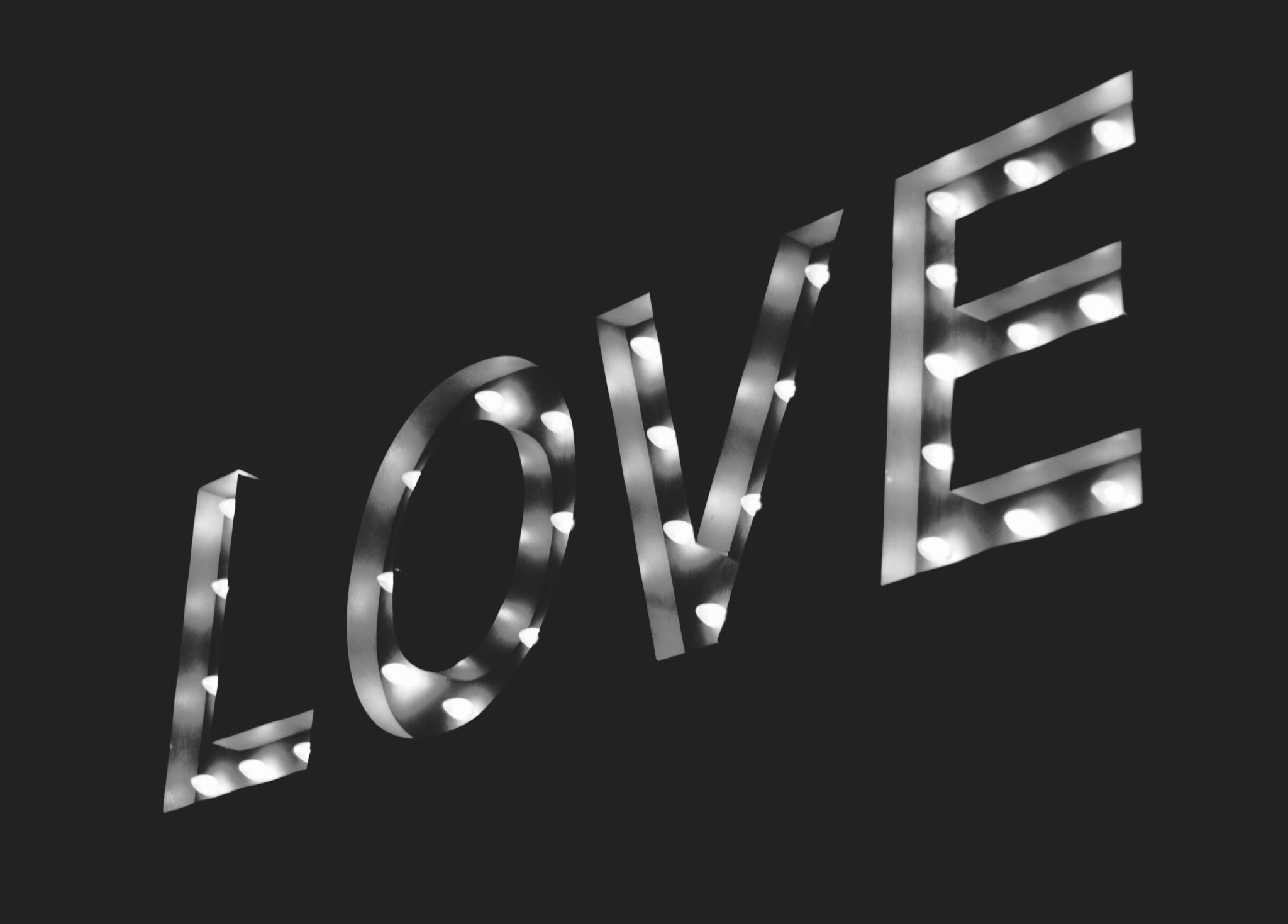 Love in Lights - Photo by Nadine Shaabana on Unsplash