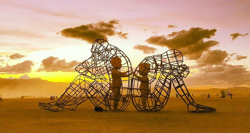 Image by Alec Kondush- Love and Fear -Burning Man Sculpture